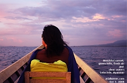 Lake Inle is famous for its beautiful sunset and serene sky. Myanmar. Asiahomes.com