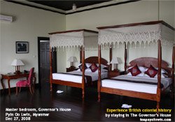 Luxury accommodation. Live British colonial history. Stay at The Governor's House, Pyin Oo Lwin, Myanmar.Toa Payoh Vets