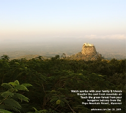 Stay 2 nights at Mount Popa Resort to enjoy the area's beauty. Asiahomes.com