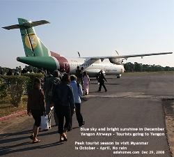 Bagan Domestic Airport. Yangon Airways. Going to Yangon. Asiahomes Travel Agency