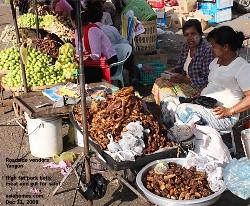 Myanmar - Yangon - Downtown - Pork Lard Vendors, Asiahomes.com