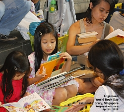 World Book Day, Book exchange, National Library, Singapore. Toa Payoh Vets