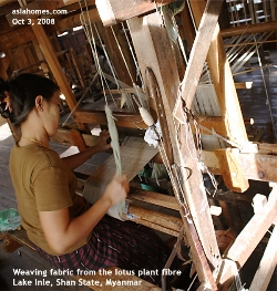 Lake Inle's weaving industry. Asiahomes.com Travels and Tours