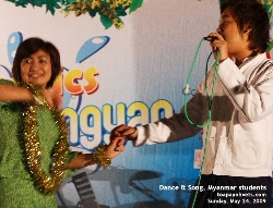 Student Dancer & Singer. Myanmar Student Organised Music and Dance, Singapore. Toa Payoh Vets