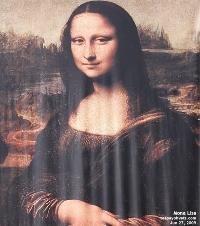 Da Vinci's Mona Lisa banner outside Science Centre, Singapore Exhibition