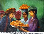 Myanmar painting. Pao Market by KWK. Toa Payoh Vets