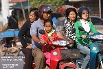 Motor bikes are a most common form of transport, Siem Reap, Cambodia