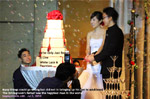A romantic wedding dinner with many attributes and promises, singapore, toapayohvets