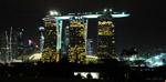 night views of singapore Marina Bay Integrated Resorts by Carlos. toapayohvets