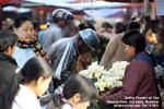 Myanmar scenes, market, Lake Inle, Nyaung shwe flower vendor designtravel pte ltd - singapore