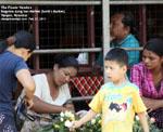 Myanmar scenes, market, bogyoke scott's market, yangon, flower vendor designtravel pte ltd - singapore