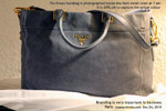 Prada handbag present Galeries lafayette Paris. toapayohvets